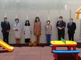 Parque infantil do Hospital das Caldas da Rainha reabilitado com apoio público e privado