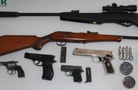 Oeste: GNR apreende armas nas Caldas da Rainha em caso de violência doméstica