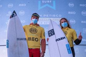 Liga MEO Surf: Kika Veselko e Afonso Antunes conquistam o 'Bom Petisco Peniche Pro' em Peniche