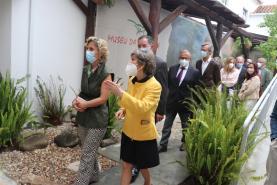 Ministra Ana Abrunhosa veio inaugurar obras do Museu da Lourinhã a convite do GEAL