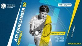 Ténis: Gastão Elias e Tiago Cação jogam esta quinta-feira no 'Oeiras Open'