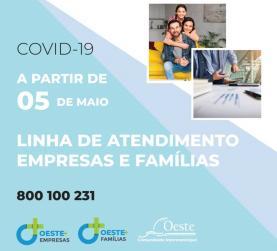 COVID-19: OesteCIM coloca em funcionamento esta terça-feira uma linha de apoio a empresas e famílias