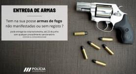Polícia de Segurança Pública: entregue a sua arma não manifestada ou registada a 11 de Maio na Lourinhã