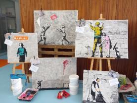 ESCO: 'Happening Bansky' esteve em exposição dirigida à comunidade escolar