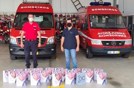 CentroÓptico Correia presenteou Bombeiros Voluntários da Lourinhã com rastreios visuais e óculos de protecção graduados