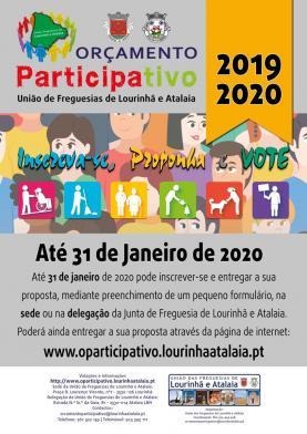 Orçamento Participativo da União de Freguesias da Lourinhã e Atalaia: apresentação de propostas até 31 de Janeiro