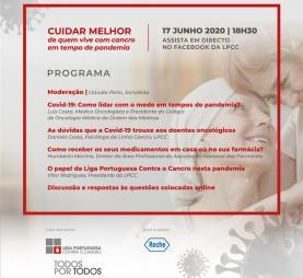 Liga Portuguesa Contra o Cancro promove webinar: esclarecer doentes oncológicos em tempos de Covid-19